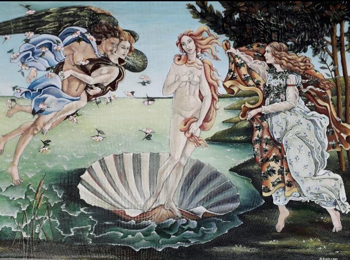Titolo: La nascita di Venere omaggio a Sandro Botticelli (Opera del periodo giovanile)
